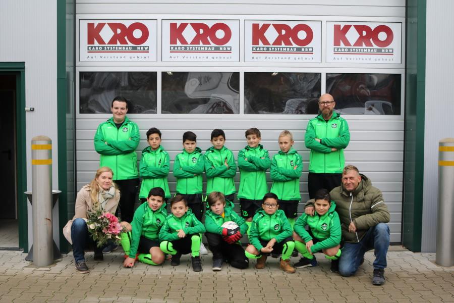 Offizieller Sponsor in Leverkusen KARO Systembau NRW
